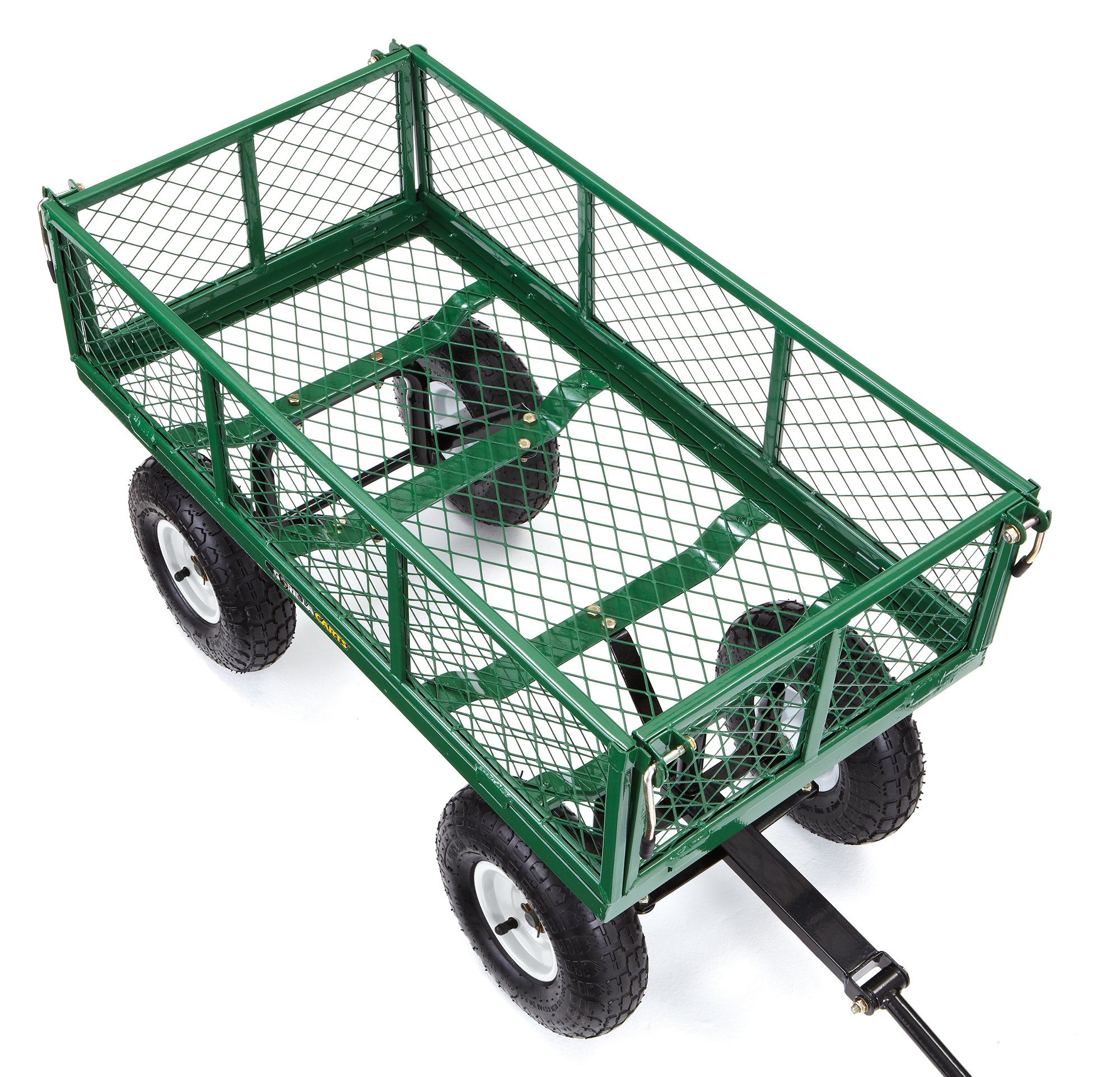 Green Capacity 400-lbs Pack of 2 Gorilla Carts GOR400-COM Steel Garden Cart with Removable Sides